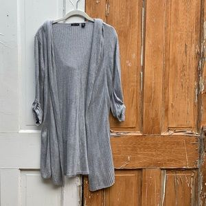 AVA long gray hoodie cardigan Size Small